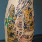 Koi Carp - Leg Tattoos Designs