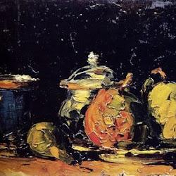 Paul Cezanne (Aprox. 1866): Naturaleza muerta. Aix en Provence, Musée Granet, en depósito en el Museo de Orsay. París. Francia.