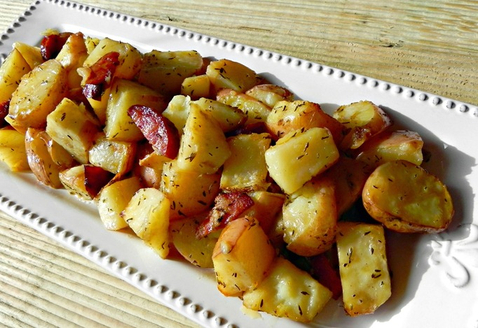 Herb Potatoes with Caramelized Garlic and Chorizo 2
