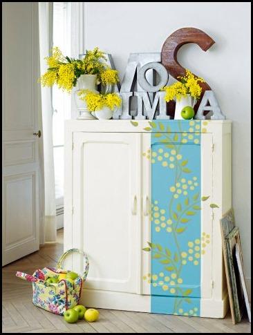 armoire-mimosa-peinture