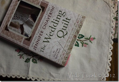 book and doily