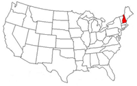 US map, New Hampshire highlighted