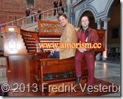 DSC06941.JPG Kulturnatt Stockholm Jens och Fredrik och orgel med amorism