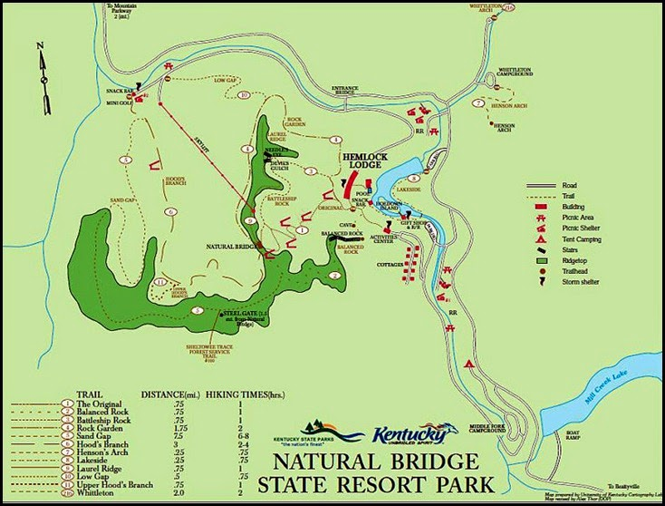00b - Natural Bridge State Park Map