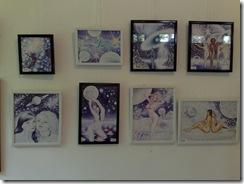 8 dintre desenele artistei Corina Chirila expuse in Herastrau