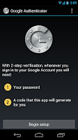Screenshot of Google Authenticator