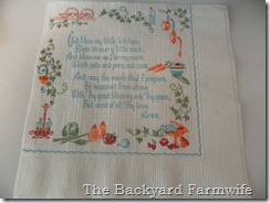 vintage napkins - The Backyard Farmwife
