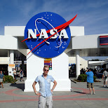 in front of the NASA entrance in Cape Canaveral, Florida, United States