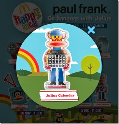McDonalds happy meal X Paul Frank - Go Banana with Julius calendar