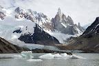 La laguna, le glacier et le cerro Torre