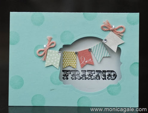 Stampin Up Banner Blast SAB card by Monica Gale