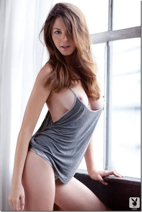 Lorena G Twistys White Stockings