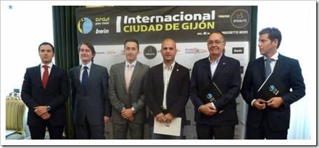 Presentación del Bwin PPT I Internacional Trofeo Stracto Ciudad de Gijón 2011.