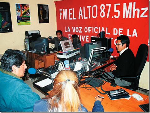 Radios piratas en El Alto