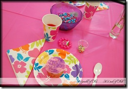 Fancy Nancy Party Table Setting {A Sprinkle of This . . . . A Dash of That}