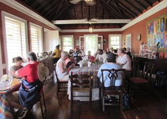 Our Lunch in the dining room of the Plantation