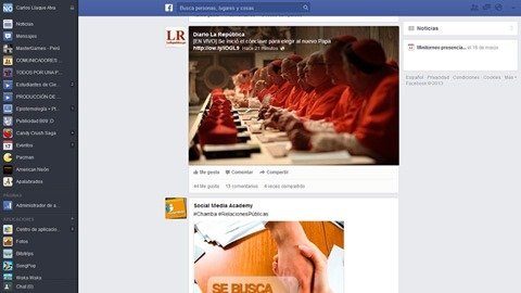 Activar el nuevo diseño de Facebook