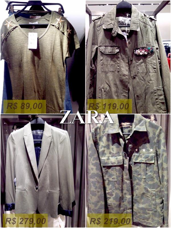 tendência militar moda roupas na loja 1