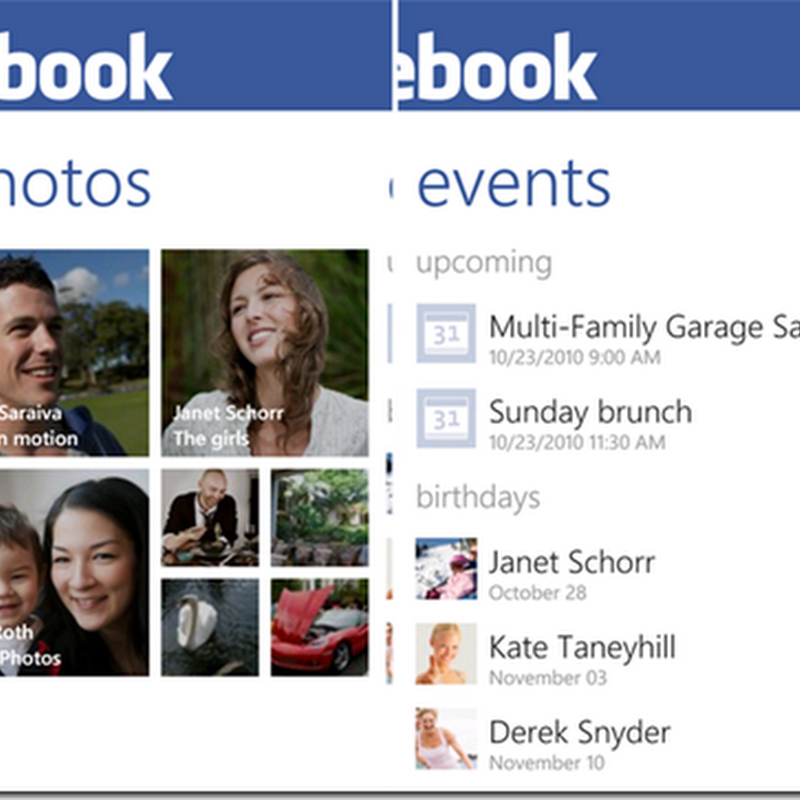 Actualización de Facebook v2.4 para Windows Phone