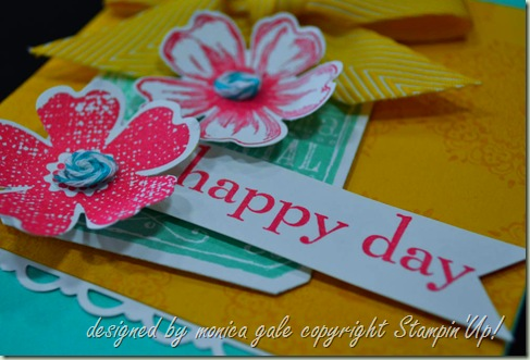Stampin'Up! Flower Shop, Happy Day, Chalk Talk close