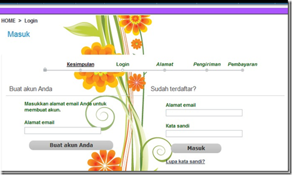 step-step berbelanja di webstore Prestashop