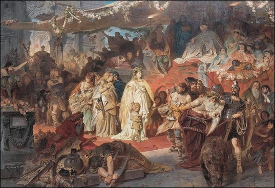 Thusnelda in triumph of Germanicus - Carl Theodor von Piloty