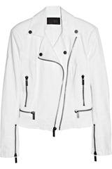 Karl Ordina stretch-cotton biker jacket