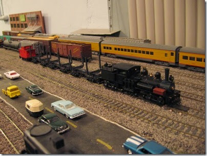 IMG_0519 Log Train on My Layout on April 11, 2008