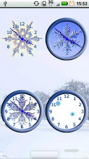 Snowflake Clocks - screenshot