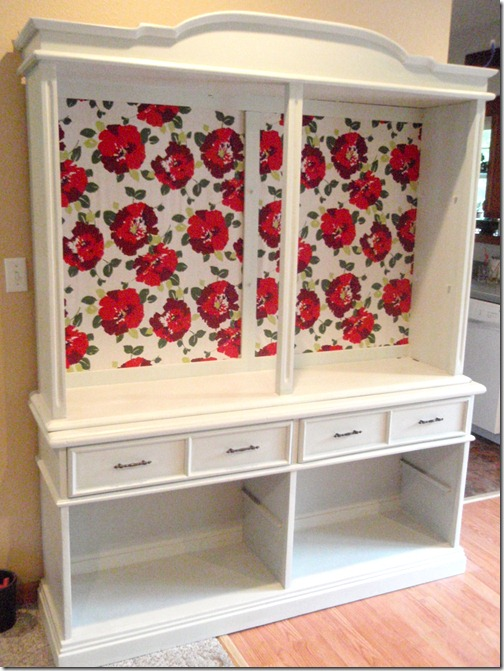 cabinet, hutch, refurbished, furniture, painted, decorated