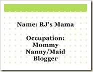 Mommy Blogger Business Card