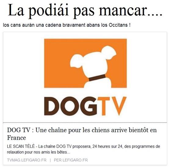 TV pels cans en lenga francesa