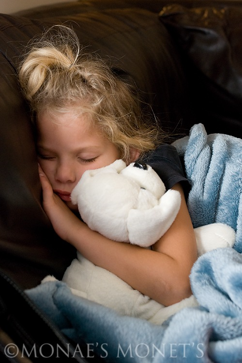 Erika asleep on couch blog