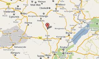 Ituri, en province orientale, marqué en rouge sur la carte.