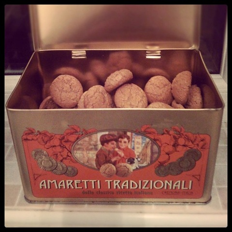 #48 - Golden amaretti tin stocked with almond biscuits