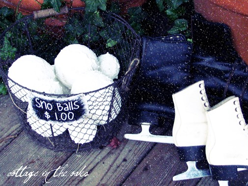 DIY Faux Snowballs by Cottage in the Oaks