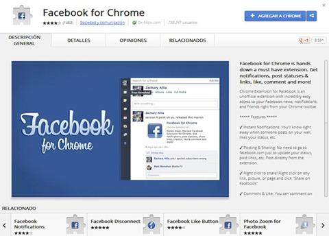 Facebook para Chrome