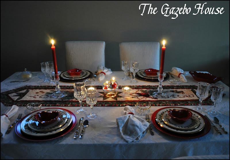 Valentines Day dinner table 001