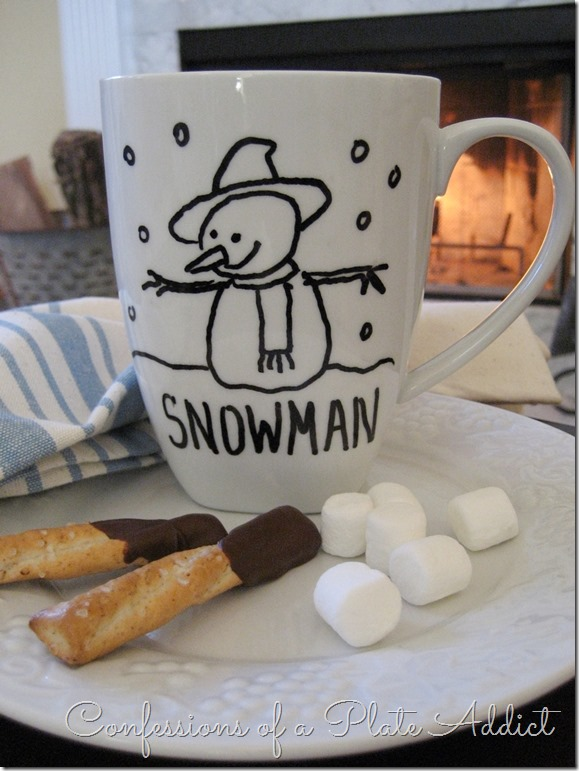 CONFESSIONS OF A PLATE ADDICT Creating a Cozy Home...DIY Sharpie Mugs Snowman