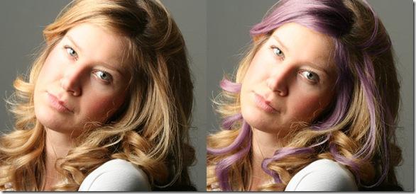 como mudar a cor dos cabelos no photoshop 0