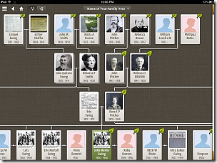 Ancestry app Tree View