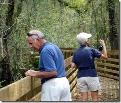 Bill and Nancy at Lettuce Lake Park in Tampa