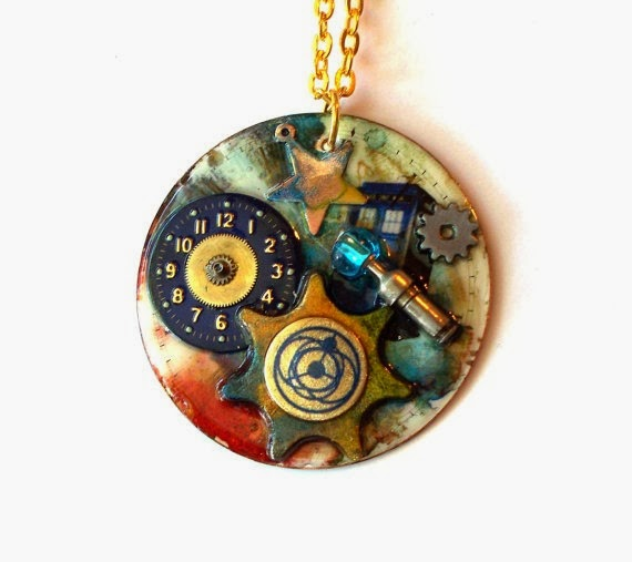 Doctor Who Necklace Time Drift from Time Machine Jewelry