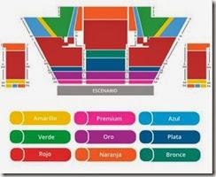 Mapa de asientos disponibles para Cavalia Odysseo Carpa Santa Fe 2014 2015