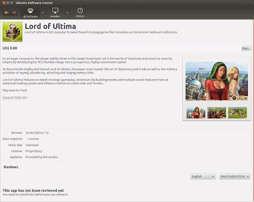 EA Game / Ubuntu - Lord of Ultima