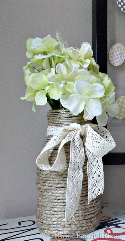 jute wrapped jar