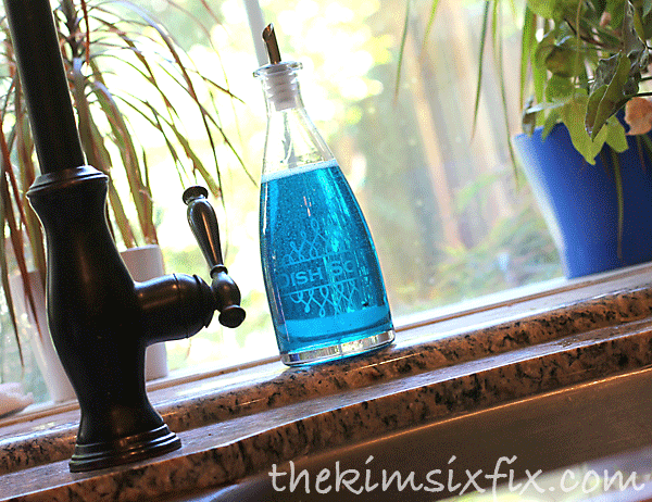 Etched soap bottle