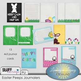 Easter Peeps - Journal Cards