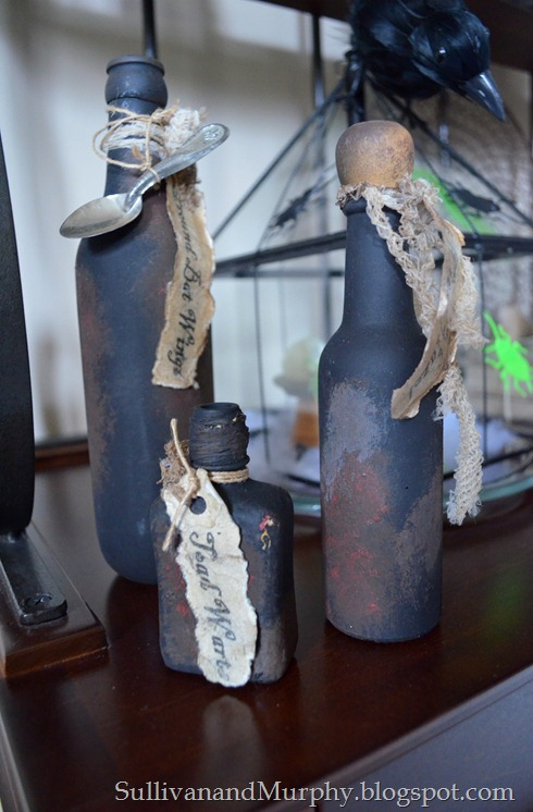 witch potion bottles