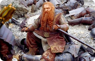 Gimli the mighty Dwarf hero